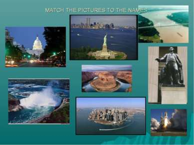 MATCH THE PICTURES TO THE NAMES.