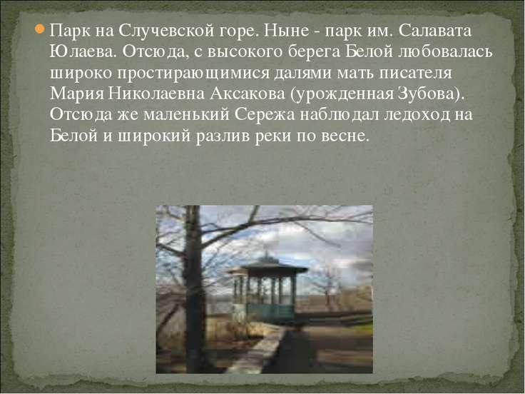 Парк на Случевской горе. Ныне - парк им. Салавата Юлаева. Отсюда, с высокого ...