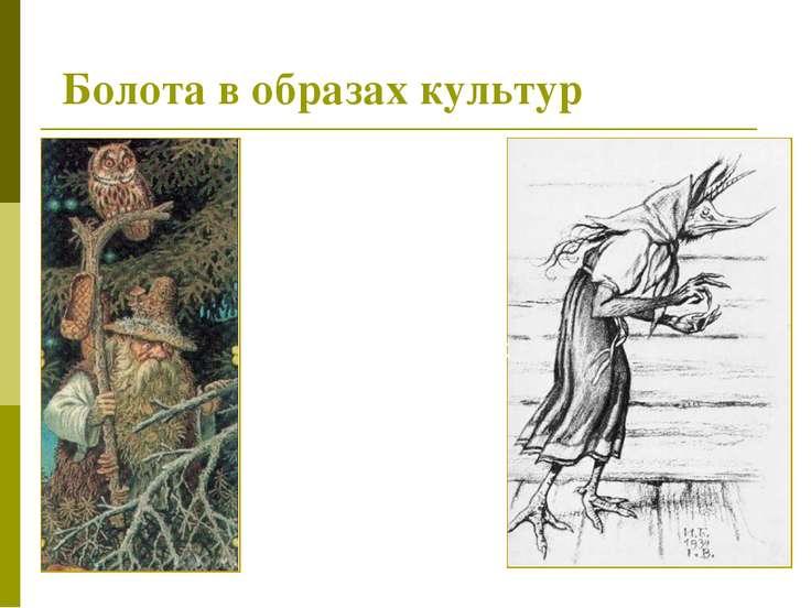 Болота в образах культур В мифологии многих культур болото ассоциируется с пл...