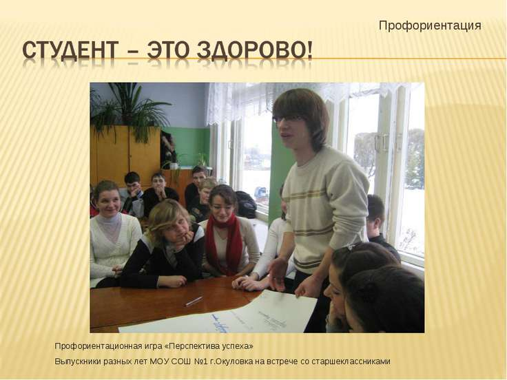 Профориентация Профориентационная игра «Перспектива успеха» Выпускники разных...