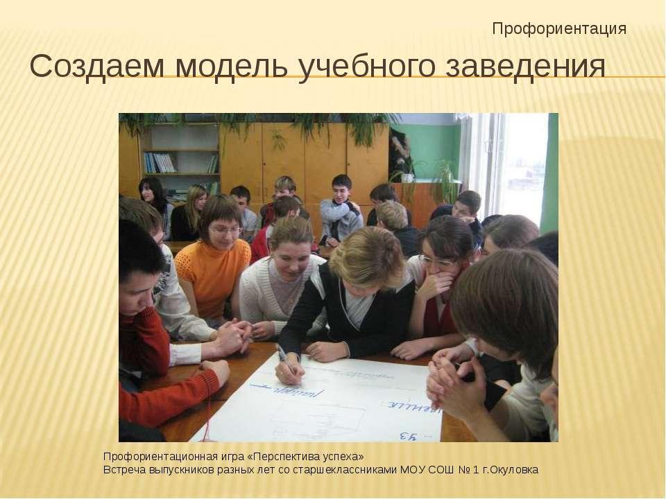 Создаем модель учебного заведения Профориентация Профориентационная игра «Пер...
