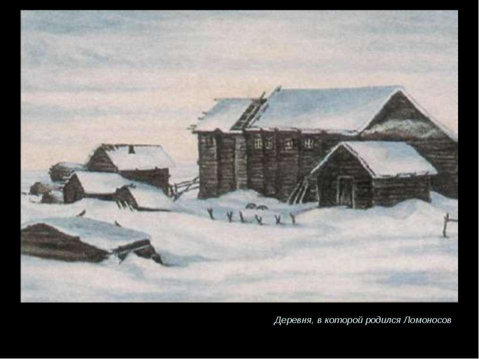 Деревня, в которой родился Ломоносов