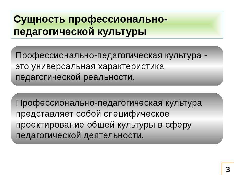 Сущность профессионально-педагогической культуры Профессионально-педагогическ...