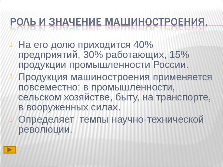 На его долю приходится 40% предприятий, 30% работающих, 15% продукции промышл...
