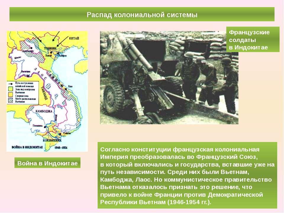 Распад колониальной системы Согласно конституции французская колониальная Имп...