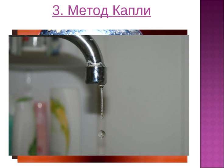 3. Метод Капли