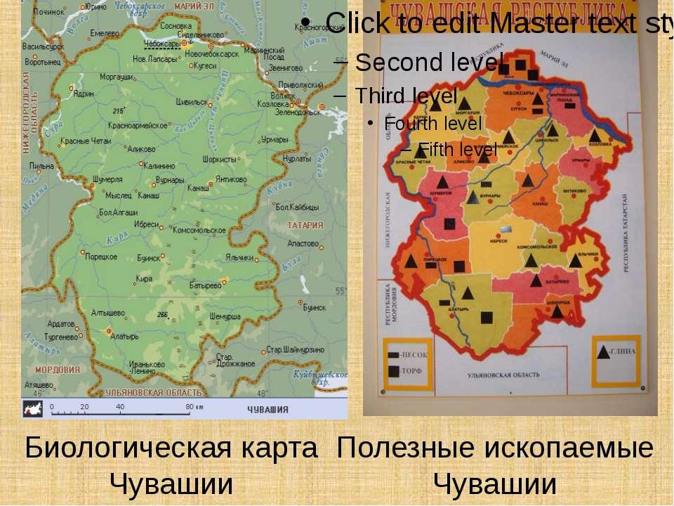 Биологическая карта Чувашии Полезные ископаемые Чувашии