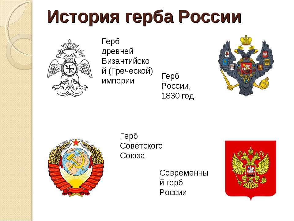 современный герб россии история и символика