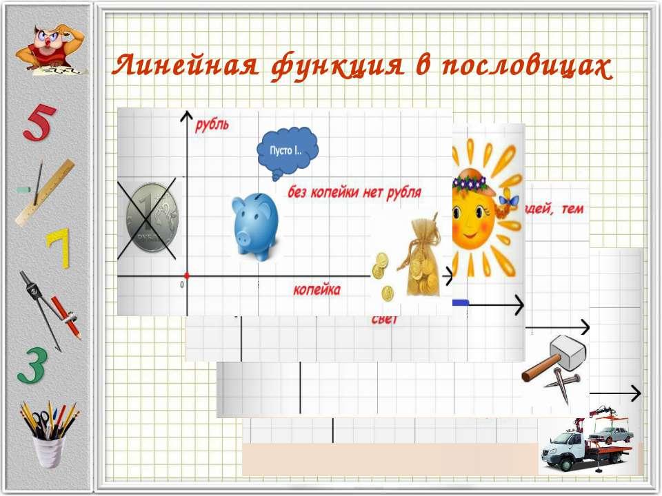 Линейная функция в пословицах