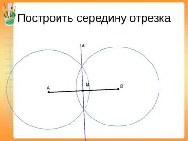 Построить середину отрезка А В a М