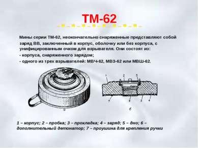 ТМ-62 Мины серии ТМ-62, неокончательно снаряженные представляют собой заряд В...