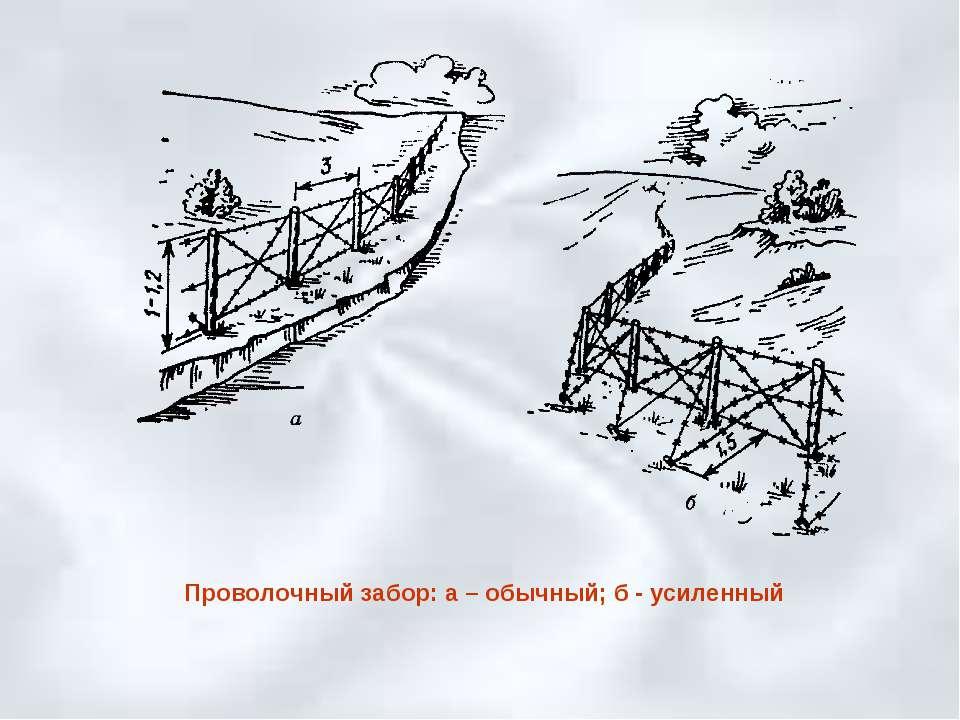 Проволочный забор: а – обычный; б - усиленный