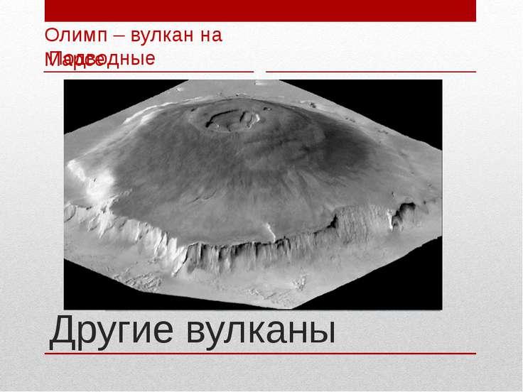 Другие вулканы Подводные Олимп – вулкан на Марсе
