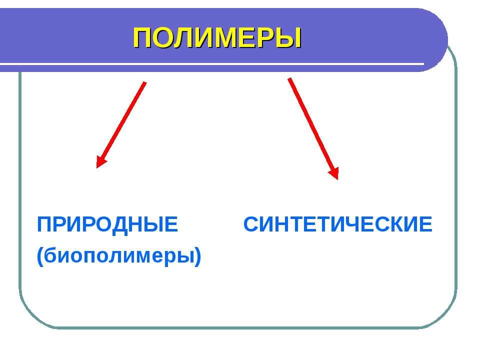 ПОЛИМЕРЫ ПРИРОДНЫЕ СИНТЕТИЧЕСКИЕ (биополимеры)