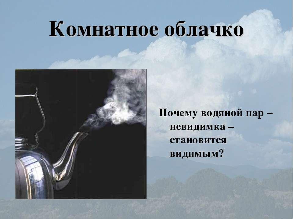 Комнатное облачко Почему водяной пар – невидимка – становится видимым?