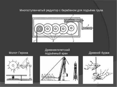 Древний бурав Древнеегипетский подъёмный кран Молот Герона Многоступенчатый р...