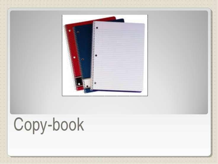 Copy-book