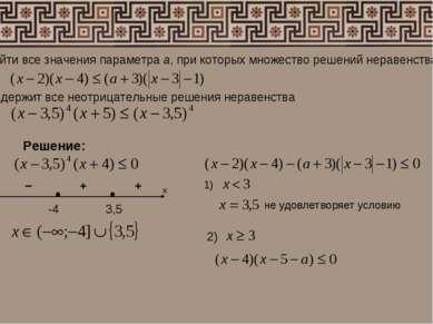 Найти все значения параметра а, при которых множество решений неравенства сод...
