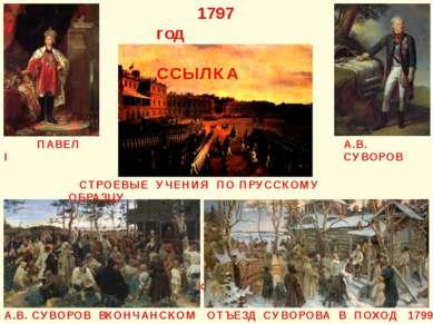 А.В. СУВОРОВ ПАВЕЛ I УЧЕНИЯ ПО ПРУССКОМУ ОБРАЗЦУ 1797 год ССЫЛКА СТРОЕВЫЕ УЧЕ...