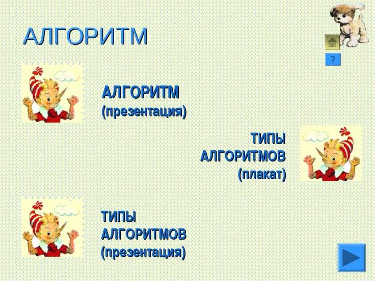 АЛГОРИТМ АЛГОРИТМ (презентация) ТИПЫ АЛГОРИТМОВ (презентация) ТИПЫ АЛГОРИТМОВ...