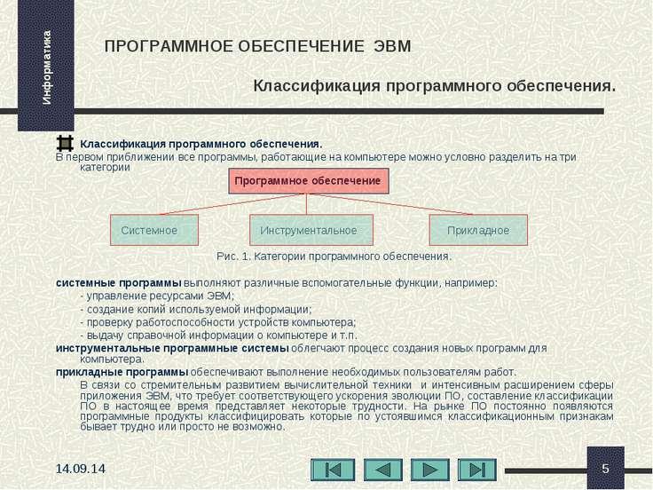 * * ПРОГРАММНОЕ ОБЕСПЕЧЕНИЕ ЭВМ Классификация программного обеспечения. Класс...