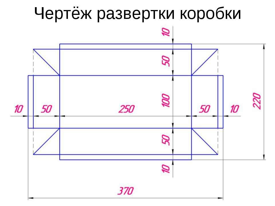 Как сделать коробочку чертеж - Kazan-avon