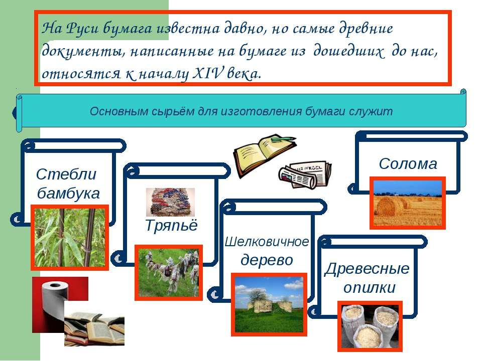 На Руси бумага известна давно, но самые древние документы, написанные на бума...
