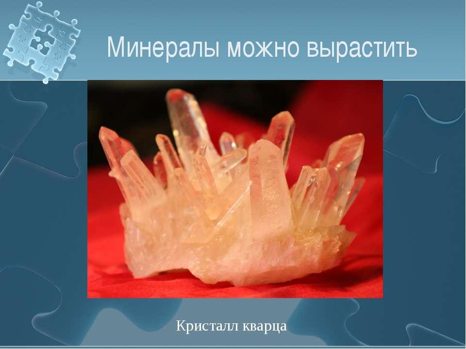 Минералы можно вырастить Кристалл кварца