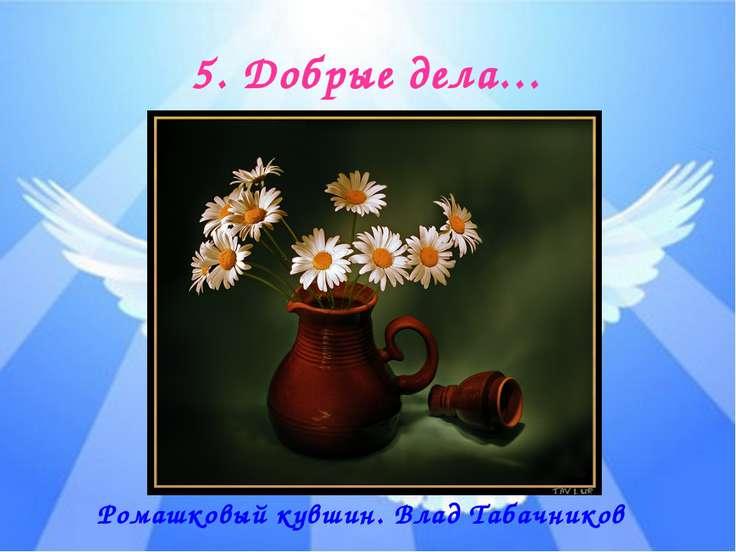 5. Добрые дела… Ромашковый кувшин. Влад Табачников