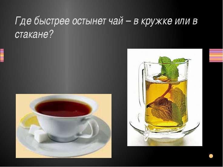 Где быстрее остынет чай – в кружке или в стакане? Заголовок раздела