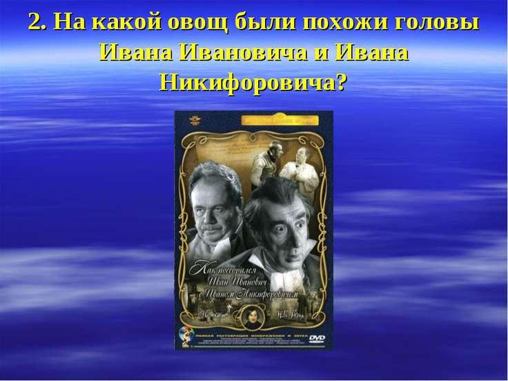 2. На какой овощ были похожи головы Ивана Ивановича и Ивана Никифоровича?