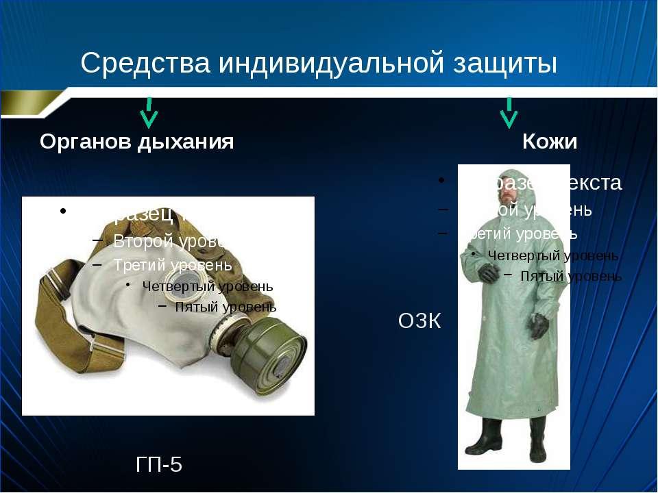 Средства индивидуальной защиты Органов дыхания Кожи ГП-5 ОЗК