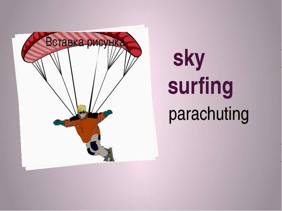 sky surfing parachuting