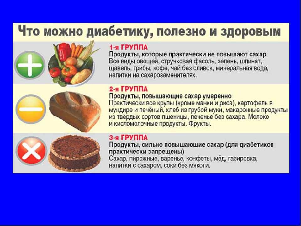 Что применять в пищу при сахарном диабете