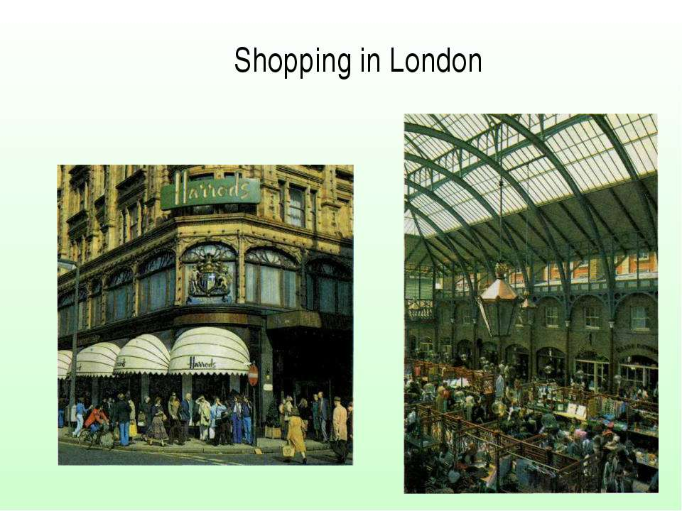 Shopping in London