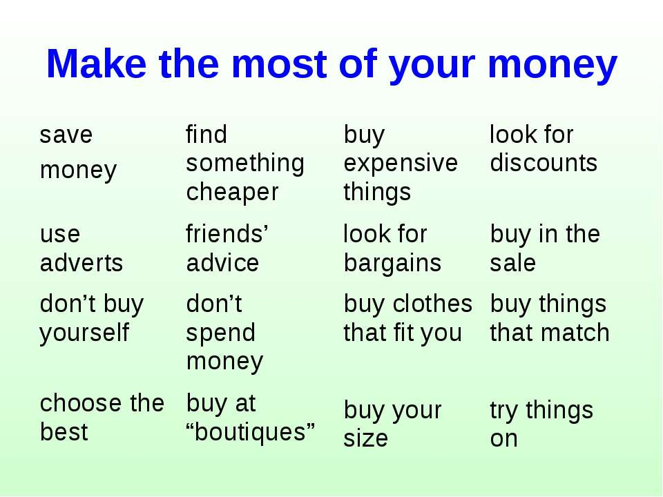 Make the most of your money save money find something cheaper use adverts fri...