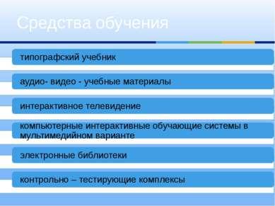 Средства обучения типографский учебник аудио- видео - учебные материалы интер...