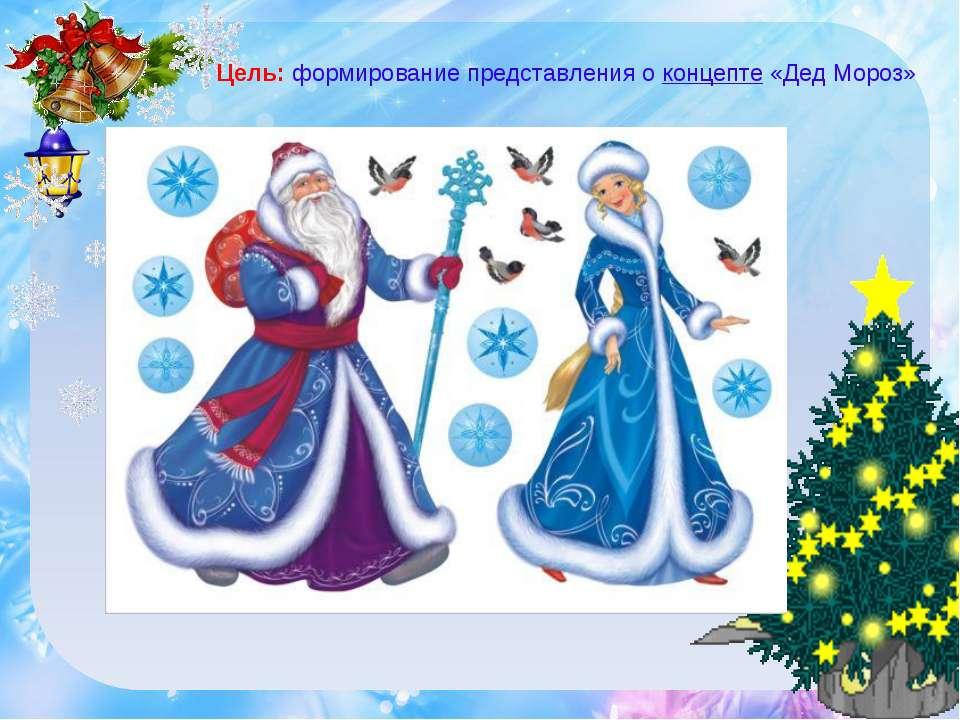 Цель: формирование представления о концепте «Дед Мороз»