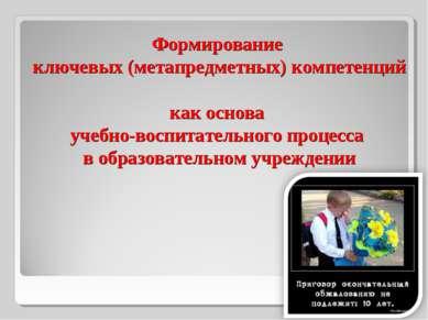 Формирование ключевых (метапредметных) компетенций как основа учебно-воспитат...