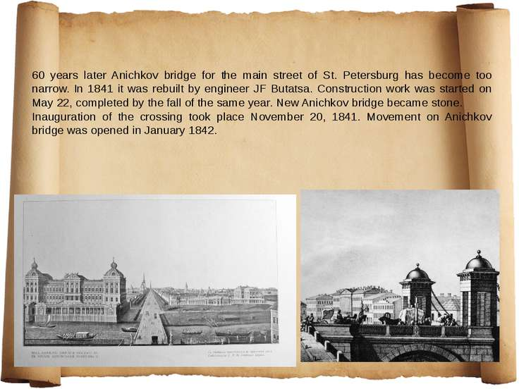 60 years later Anichkov bridge for the main street of St. Petersburg has beco...