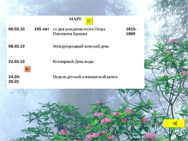 МАРТ 06.03.10 195 лет со дня рождения поэта Петра Павловича Ершова 1815-1869 ...