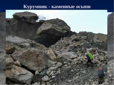 Курумник - каменные осыпи
