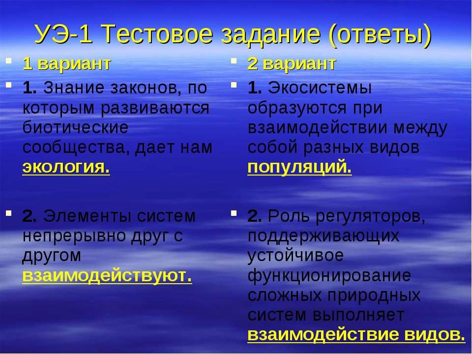 УЭ-1 Тестовое задание (ответы) 1 вариант 1. Знание законов, по которым развив...