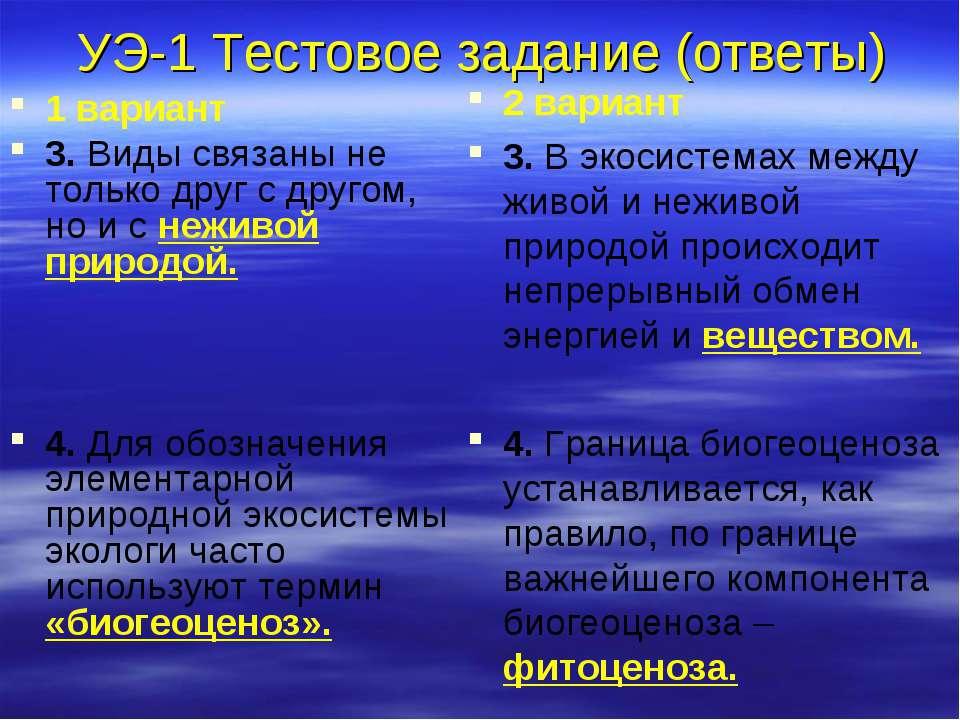 УЭ-1 Тестовое задание (ответы) 1 вариант 3. Виды связаны не только друг с дру...
