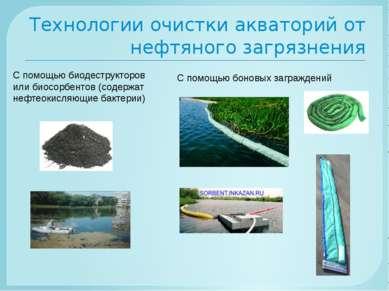Технологии очистки акваторий от нефтяного загрязнения С помощью биодеструктор...