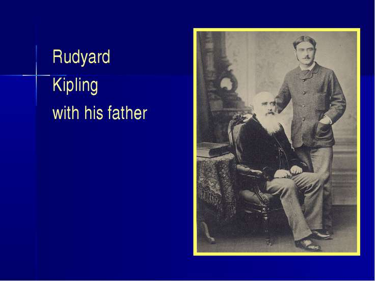 Rudyard Kipling with his father