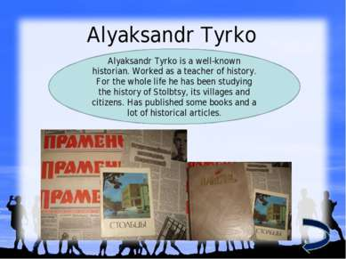 Alyaksandr Tyrko Alyaksandr Tyrko is a well-known historian. Worked as a teac...