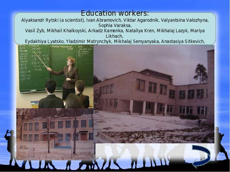 Education workers: Alyaksandr Rytski (a scientist), Ivan Abramovich, Viktar A...
