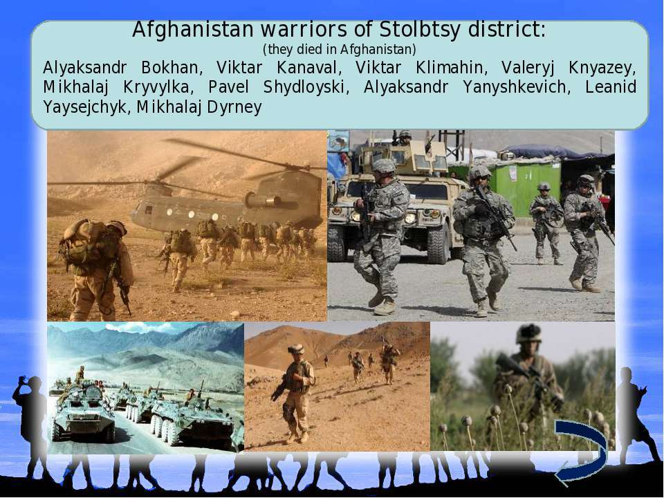 Afghanistan warriors of Stolbtsy district: (they died in Afghanistan) Alyaksa...
