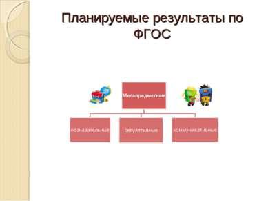 Планируемые результаты по ФГОС